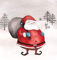 Père Noël à l'Aquarelle by me
