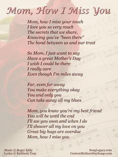 I miss you mom poems 2016 mom in heaven poems from daughter son on mothers day.Mommy heaven poems for kids who miss their mommy badly sayings quotes wishes. Mom In Heaven Poem, Missing You In Heaven, Mother's Day In Heaven, Mother In Heaven, Heaven Poems, Missing Mom Poems, Funeral Poems For Mom, Mothers Day Songs, Mothers Day Quotes