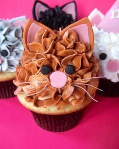 Cute kitty cat cupcakes!