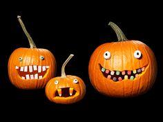 Cool pumpkin decorating idea: So fun!