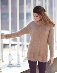 Book Woman Urban 84 Autumn / Winter | 10: Woman Sweater | Light brown