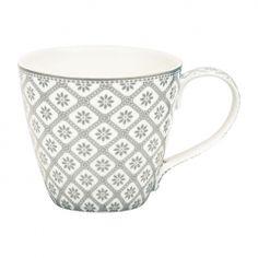 GreenGate Bianca warm grey kopp med handtag