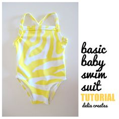 Here's another adorable tutorial for your little one. If you've never sewn a swimsuit before, this DIY baby swimsuit by Delia Creates is the perfect place to begin.