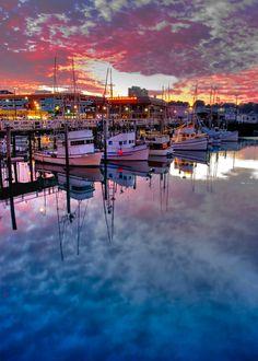 coiour-my-world:Fishermens Wharf San Francisco at dusk 3 by...