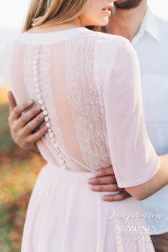 Прямое свадебное платье с рукавами Inspiration в европейском стиле | Свадебный…