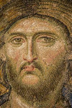20130522 Hagia Sophia 020 detail of face Sainte Catherine, Mosaic Portrait, Mosaic Artwork, Cork Art, Mosaic Madness, Byzantine Art, Hagia Sophia, Mosaic Projects, Orthodox Icons