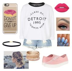 """Detroit "" by brookebeckham on Polyvore featuring beauty, Siwy, Topshop, Casetify, Lime Crime, Vans and Red Camel"