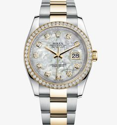 Rolex Datejust 36 mm Watch: Yellow Rolesor - combination of 904L steel and 18 ct yellow gold – M116243-0027