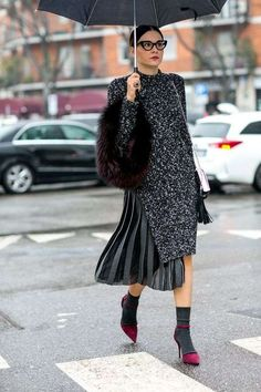 The Best of Milan Fashion Week Street Style 2015 Street Style Outfits, Milan Fashion Week Street Style, Autumn Street Style, Street Chic, Street Styles, Winter Style, Winter Chic, Fall Winter, Fashion Clothes