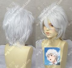 No.6 Sion Short Silvery white Style  Cosplay Party Wig
