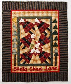 Santa Claus Lane, Inspired by Cheri Payne pattern