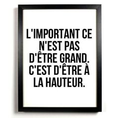 A la hauteur – Mes mots doux – Best Pins Live Quotes Español, Words Quotes, Funny Quotes, Sayings, The Words, Cool Words, Positive Mind, Positive Attitude, Positive Quotes