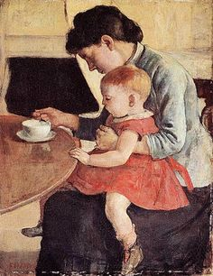 Mother and Child (1888). Ferdinand Hodler.