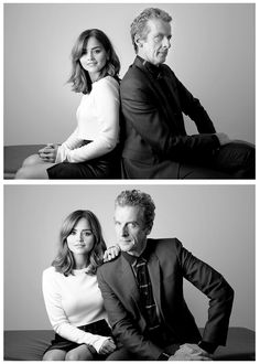 Clara & the 12th Doctor. I like these two. Capaldi is now my favorite Doctor. Thanks, Mr. Capaldi!