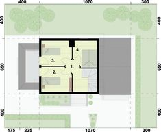 Projekt ORLEAN 5 dom letniskowy z poddaszem :: PRO-ARTE.pl House Plans, Floor Plans, How To Plan, Design, House 2, House, House Floor Plans, Floor Plan Drawing