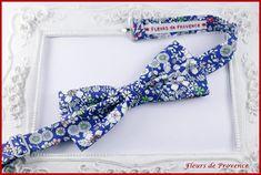 Noeud Papillon Tissu Liberty Meadow bleu marine - Homme / enfant / bebe