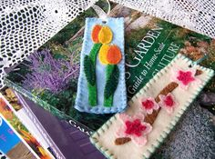 Layered Felt Spring Bookmarks Patterns and Tutorial