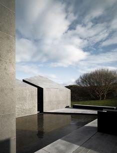 umbau wohnhaus modern pool terrasse schiefer kalkstein