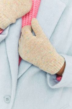 Super Soft Nep Knitted Gloves
