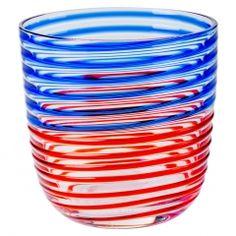 Gobelet Diversi rayures rouges & bleues Carlo Moretti