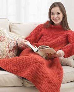 Bernat: Pattern Detail - KW - Wrap-ghan (crochet) (crochet snuggie....no! :) )