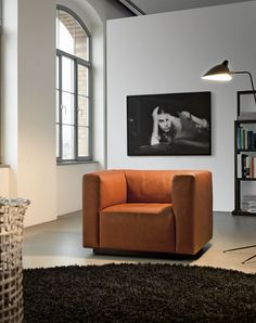 """timeless leather arm chair, """"Living Landscape 740""""  Walter Knoll"""