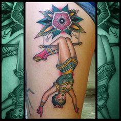 Acrobat #tattooenergy #classictattoo #besttradtattoos #traditionaltattoo #picoftheday #inkstagram #bestoftheday #art #bodymodification #instatattoo #tattoostagram #instacool #tattooartistmagazine #tatuaggio #tattoos #tattooistartmag #inkedmag #tattooitalia #bright_and_bold #tattoosnob #ytattooworkers #inkedmagazine #ildilatatore #iltatuaggio #tattoo_of_instagram #amazingtattoo #tattoolifegallery #traditional_flash #italiantraditionaltattoo #circustattoo