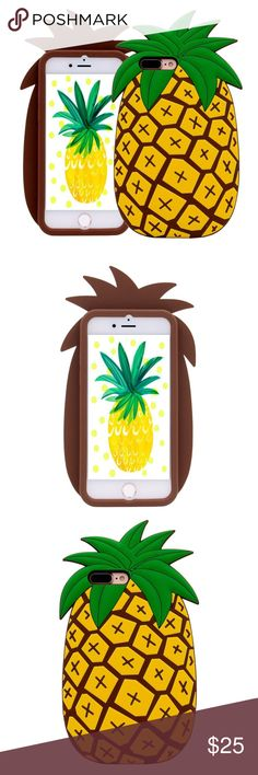 IPhone 7 Plus Silicone Pineapple Case Brand new.  Accessories Phone Cases
