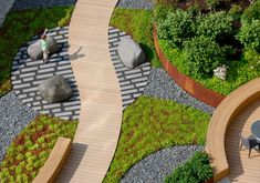 Nouvelle at Natick Landscaping A Slope, Modern Landscaping, Landscape Architecture Design, Space Architecture, Park Landscape, Urban Landscape, Cool Landscapes, Beautiful Landscapes, Fresco