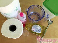 Πώς να φτιάξουμε φοβερά καθαριστικά μαντιλάκια για το σπίτι από ρολό κουζίνας! – ΒΙΝΤΕΟ - Toftiaxa.gr Cleaners Homemade, Diy Videos, Organizer, Diy Kitchen, Tableware, Creative, Diys, Health, Bucket
