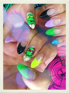 ninja turtles nails