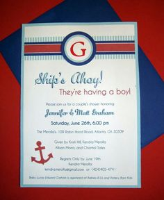 find this pin and more on party theme nautica nautical themed baby shower invitations