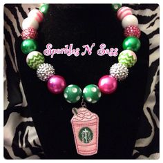 A personal favorite from my Etsy shop https://www.etsy.com/listing/235552593/starbucks-inspired-frappichino-necklace