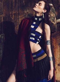 Tribal Princess Editorials - Patrycja Gardygajlo Graces the Pages of Vogue Turkey May 2014 (GALLERY)