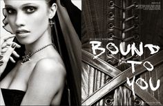 """""""Bound to You"""" fashion editorial by Billy Winters with styling by Dark Garden Unique Corsetry in Tantalum magazine"""