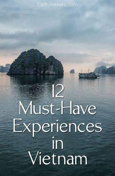 Vietnam Must-Have Experiences: Halong Bay, Hanoi, Hoi An, Mekong Delta, Hue, Saigon, and more. #vietnamtravel