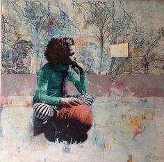 contemporary fine art and gallery, modern oil paintings Modern Oil Painting, Contemporary Paintings, Collage Techniques, A Level Art, Portrait Art, Portraits, Collage Art, Collages, Figure Painting