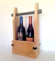 Resultado de imagen de reclaimed wood wine carrier