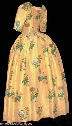 RARE C1760's 1770's Lady's Silk Brocade Open Robe   eBay