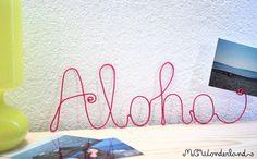 aloha scritta in corda rosa fucsia scritta di MCWonderland su Etsy