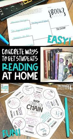 Ways to Get Students Reading at Home Fun, concrete ways to help motivate students to read more at home.Fun, concrete ways to help motivate students to read more at home. Middle School Reading, 5th Grade Reading, 6th Grade Ela, Student Reading, Teaching Reading, Guided Reading, Reading Lessons, Teaching Ideas, Fourth Grade