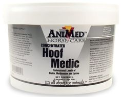 AniMed Hoof Medic by AniMed. Save 54 Off!. $21.52. Targeted nutritional vitamins and minerals vital for normal hoof growth. Works to support cracked hooves and strengthen hoof walls. Contains essential amino acids, biotin and lysine. Animed Hoof Medic Due to exertion during training, competition, working etc., horses' hooves can become fragile, weak and vulnerable; they even might start bleeding from the slightest cut. AniMed Hoof Medic includes all essential amino acids, a...