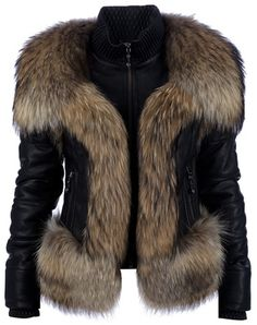 PHILLIP PLEIN Lamb Leather Fur Jacket