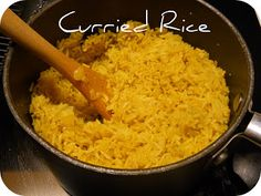 Mostly Food and Crafts: Curried Rice
