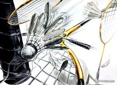 대구그린섬 미술학원 기초디자인 학생작 감상 #셔틀콕 /#배드민턴 라켓 #속도감 Badminton Birdie, Drawing Sketches, Drawings, Anime Characters, Illustration, Sports, Pattern, Pictures, Design