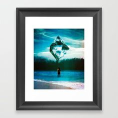 Containing The Sea Framed Art Print by seamless Sci Fi Art, Prints For Sale, Custom Framing, Framed Art Prints, Wall Tapestry, Surrealism, Fine Art America, Digital Art, Surreal Collage