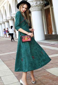 Morpheus Boutique  - Green Button Restoring Ancient Ways Posed Dress , $139.99 (http://www.morpheusboutique.com/new-arrivals/green-button-restoring-ancient-ways-posed-dress/)