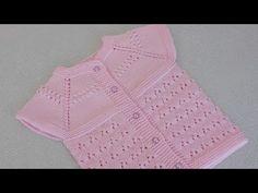 V Ajur Modelli Yelek Yapımı - YouTube Crochet For Kids, Crochet Baby, Crochet Top, Baby Vest, Baby Cardigan, Cardigan Design, Knit Baby Booties, Knit Vest, Baby Knitting Patterns