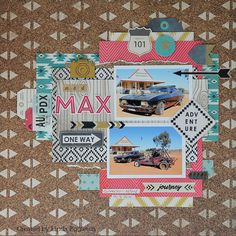 More Crate Paper - Journey for All About Scrapbooks