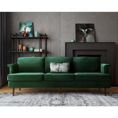 The Furniture Modern Porter Forest Green Velvet Sofa With a nod to Mid-century design. We created our gorgeous Porter sofa with high density foam cushions that provide maximum support and comfort. Sofa Furniture, Living Room Furniture, Modern Furniture, Furniture Outlet, Online Furniture, Velvet Furniture, Green Furniture, Dark Furniture, Furniture Removal